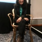 2020-01 07of13 - Fg talk at Ascential Conference - The Gatti Chair - Safia Minney MBE of People tree
