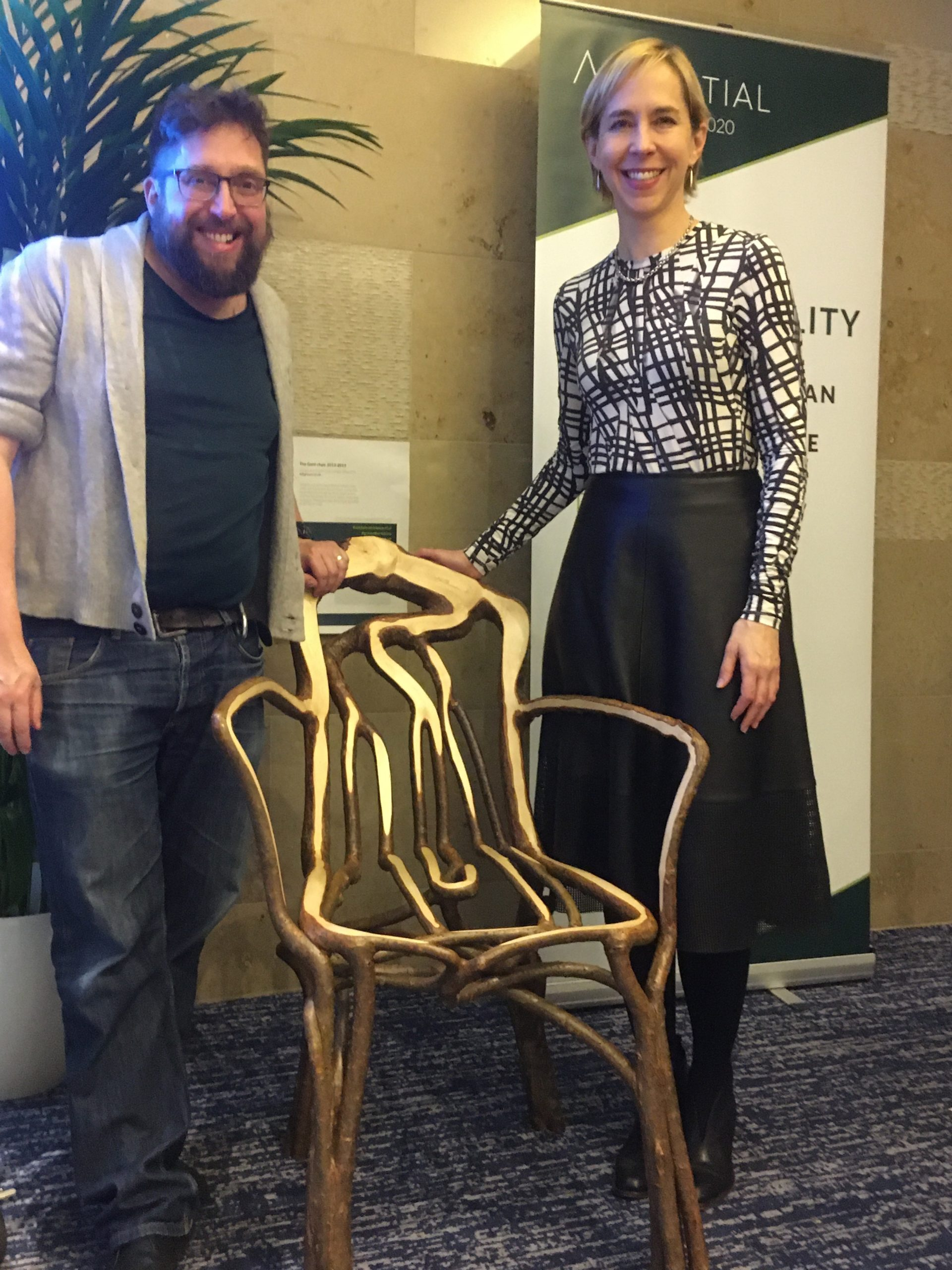 2020-01 12of13 - Fg talk at Ascential Conference - The Gatti Chair - Gavin and Lisa White Director of Lifestyle and Interiors WGSN