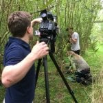 George Sargent films a chair harvest for Reuters